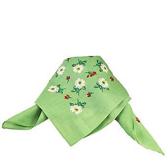Ties Planet Green Flower Pattern Bandana Neckerchief