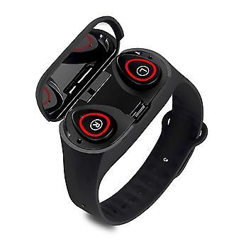 Sports wristband and handfree wireless earbuds combo