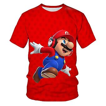 Baby Boys And Girls, The Super Mario Bros Game Cartoon Printed, T Shirt Short