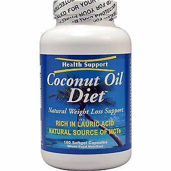 Health Support Coconut Oil Diet, 180 Cap
