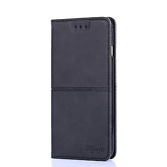 Leather Case for Huawei P20 lite Black keyunfei-26