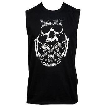 Sons of Anarchy Crossed Weapons Logo en Back Print Sleeveless T-shirt