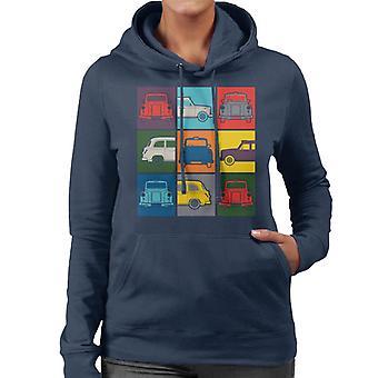 London Taxi Company Colourful Angles Women's Hooded Sweatshirt