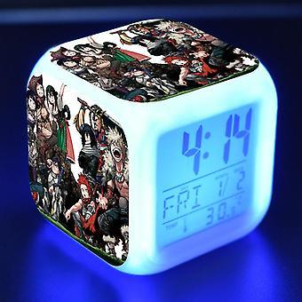 צבעוני רב תכליתי הוביל ילדים & apos;s שעון מעורר -Boku אין גיבור האקדמיה #23