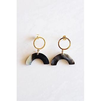 Buffalo Horn Post Earrings