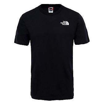 North Face Miesten Takalogo Muoti Rento T-paita Top Tee Musta