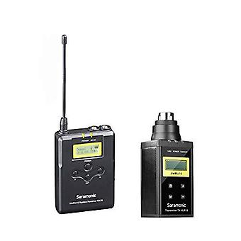 Saramonic uwmic15b (sr-xlr15+rx15) wireless microphone transmitter and receiver system for using xlr microphone with dslr camera, camco