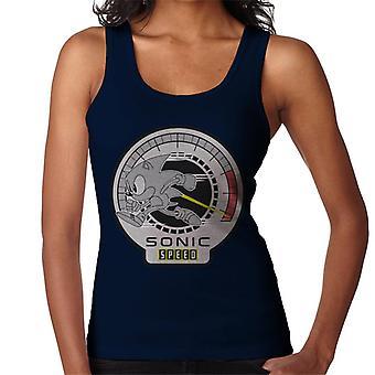 Sonic The Hedgehog Speedometer Women's Vest