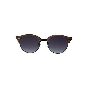 Louche Womens Katy Wayfarer Wooden Sunglasses Light Brown