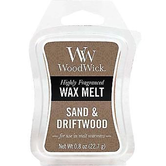 Woodwick Wax Melt - Sand & Driftwood