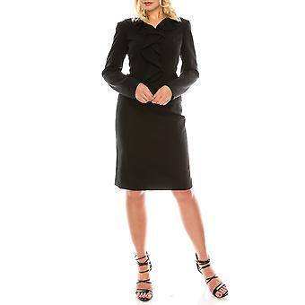Cascading Ruffle 2 Piece Skirt Suit