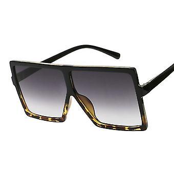 ظلال سوداء الحجم الأزياء مربع مربع كبير الإطار خمر نظارات الرجعية