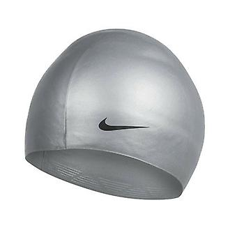 NIke Dome Team Silver Mens Smooth Swimming Training Hat Cap 368861 070 A182D