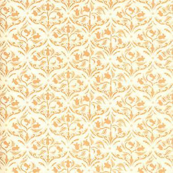 Melody Jane Dolls House Art Nouveau Cream Arabesque Tulip Miniature Wallpaper