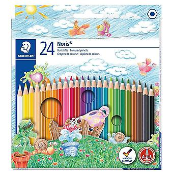 Noris club colouring pencils 144 nc24, pack 24 assorted pack of 24 standard packaging