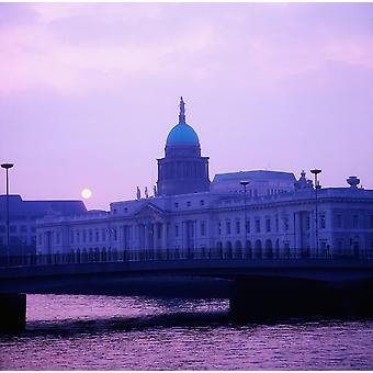Custom House Dublin Co Dublin Irlanti PosterPrint