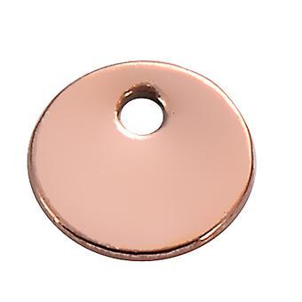 50 adet / lot Paslanmaz Çelik Boş Etiketler Yuvarlak Charms Yapma Takı için Diy