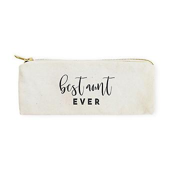 Best Aunt Ever-cotton Canvas Pencil Case And Travel Pouch