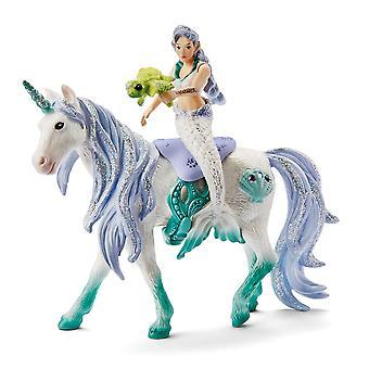 Schleich 42509 Mermaid Riding On Sea Unicorn Bayala Figure