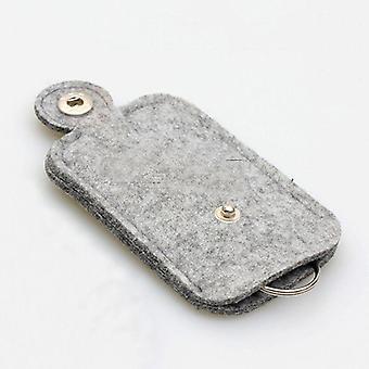 nøkkelveske for bil, lommebok, veske - ullfilt nøkkelringholder