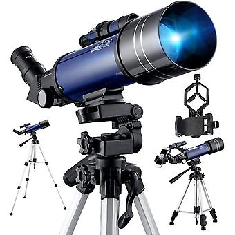 Telescope for Astronomy, Pro 400/70 FMC Glass Optical Refractor Telescope