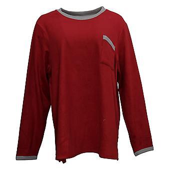 Cuddl Duds Women's Fleecewear Pajama Top Red A387657