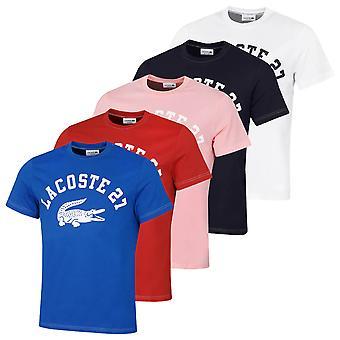 Lacoste Hombres 2021 TH0061 Colegiado Cuello acanalado Algodón Jersey Camiseta