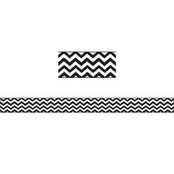 Magnetic Magi-Strips, Black Chevron, 12'