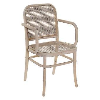 Dining Chair Dekodonia rattan Birch (54 x 52 x 88 cm)