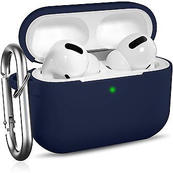 Carcasă de protecție rezistentă la șocuri cu carabină compatibilă cu AirPods Pro [LED frontal vizibil] - Albastru