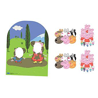 Peppa Pig and Friends Party Pack with Cardboard Stand In, Masks and Tabletops