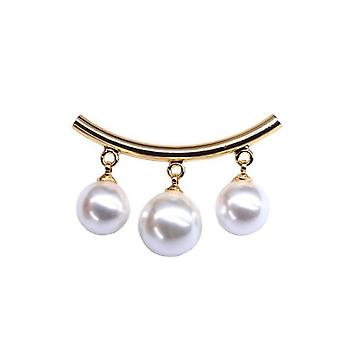 Corsage Three Pearls Arc Ladies Brooch Antiglare Overalls Brooch Pin