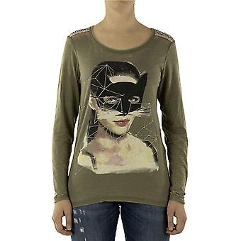 Custo Barcelona Women T-shirt Model Catwoman Multicolor