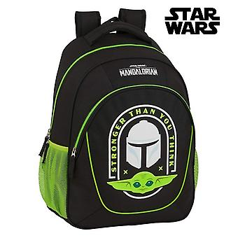 School Bag The Mandalorian Black Green