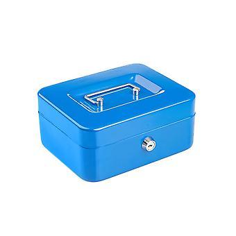 Compacto de acero sólido con cerradura Petty Cash Money / Valuables Safe Box - 8 pulgadas