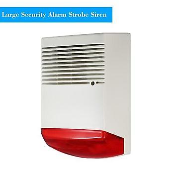 Wired Strobe Siren Sound Light Alarm Red Flashlight Horn 120dB Loud Alarm Sound Speaker Outdoor Waterproof for Intrusion Safety & Fire Alarm