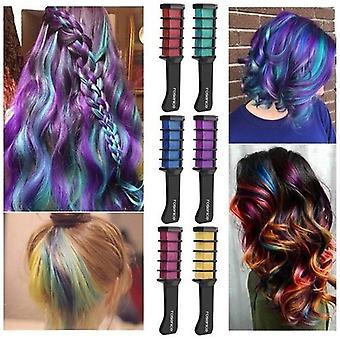 Wegwerp haarverf kam tijdelijk haar krijt kleur kam dye tool cosplay partij haren styling verven kleurrijke tool