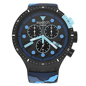 Swatch Sb02b408 Big Bold Chrono Escape Ocean Silicone Watch