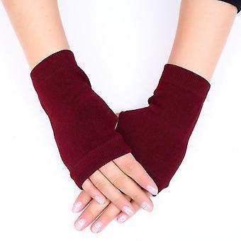 Зимние перчатки с сенсорным экраном, женские шерстяные перчатки