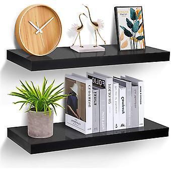 FengChun Wandregal schwarz, Regale fr die Wand 2er-Set, Wandregal schwarz 20 kg Gewicht, modern