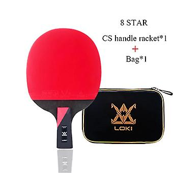 8 Star High Sticky Table Tennis Racket Professional(Short)