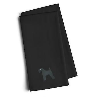 """""""Caroline schätze Bb3392Bktwe Kerry Blue Terrier schwarz bestickt Küchentuch (Set von 2), 28"""" H X 19"""" W, Multicolor"""""""