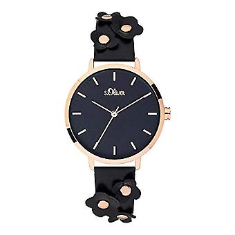 s.Oliver Analog Quartz Watch Woman with Leather Strap SO-3700-LQ