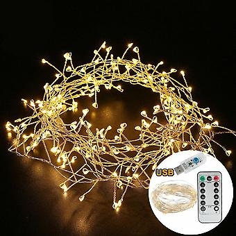 Branch Tree Outdoor Silver Wire Fairy Lights