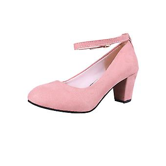 High Heels One Word Buckle Small Pure And Fresh Joker Female Shoes