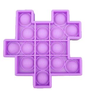 1Pcs purple 6pcs silicon ball for kids play a rubik's cube style toy bundle stress relief with fidget hand toys az21914