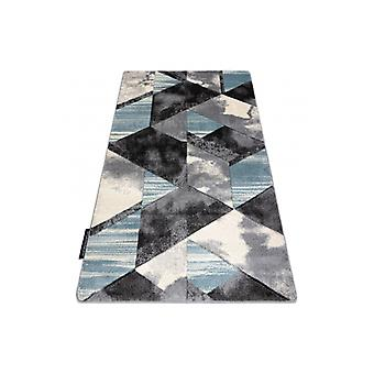 Rug ALTER Wet Geometric, triangles, trapeze blue