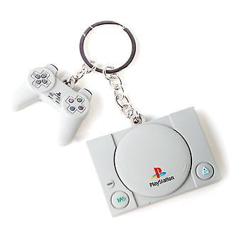 Sony - Console & Controller Keychain - Cinza