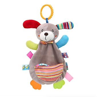 Dog Rattling Doll Cute Baby Hanging Toys With Bell Teether For Children Soft Plush Rattle Toys Brown