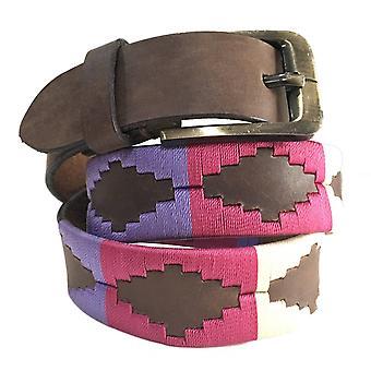 Carlos Díaz cinturón de cuero marrón awo16485